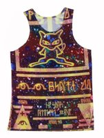 al por mayor nueva ropa interior del estilo-2015 Nueva Estilos Antiguo Mew Hombres Mujeres chaleco unisex chaleco parejas Tank Tops ropa interior 3D Imprimir Culote sin mangas Ropa Estiramiento # V033