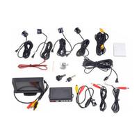 Wholesale LCD Display Video Car Parking Radar System Reverse Backup Kit Parking Sensors Camera Buzzer Alarm V Parking Assistance