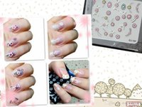 3d nail stickers - 800pack Three dimensional applique nail stickers D stereoscopic dried flowers simulation environment variety mixed HB17