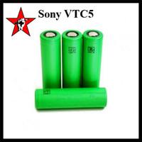 Wholesale Original Sony VTC4 mAh VTC5 mAh A High Drain Battery Lithium Batteries V Fitting Wismec RX23 Ijoy Maxo Quad Smok Alien