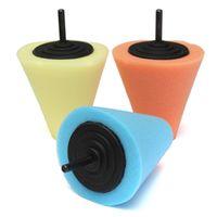 Wholesale Polishing Foam Sponge Cone Metal Pad Car Wheel Hub Care Polish Buffing Tool Kit