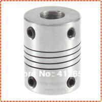 Wholesale 10pcs x8mm CNC Motor Jaw Shaft Coupler mm To mm Flexible Coupling OD x25mm Dropshipping