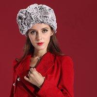 Wholesale Women Winter Hats Fashion Dress Fur Winter Hat Women Scarf Winter Shawl Soft Big Flower Fit Head Delicate
