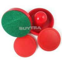 Wholesale 2014 Brand Air Hockey Table mm Pucks mm Goalies Felt Pusher Set New Fashion Mini red Air Hockey Pusher mallet