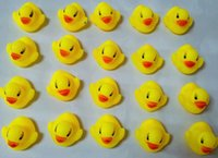 Wholesale NEW Mini Bath Duck Sound Floating Rubber Ducks Squeeze sounding Dabbling Toy Rubber Duck Classic Toys