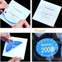 Wholesale 9pcs Car Windshield Glass Static Cling Stance Sticker Holder Decal for Car Label