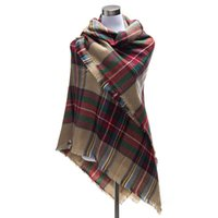 Wholesale 140 cm Za Fashion Winter Desinger Women Winter Plaid Blanket Scarf College Style Pashmina Scarves Shawl