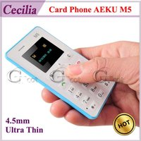 slim - Card Phone AEKU M5 mm Ultra Thin Slim inch MTK Single Core Mini Pocket Phones Bluetooth Single Ordinary SIM No Camera