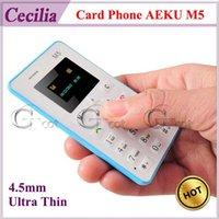 Lenovo slim - Card Phone AEKU M5 mm Ultra Thin Slim inch MTK Single Core Mini Pocket Phones Bluetooth Single Ordinary SIM No Camera
