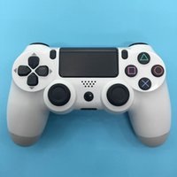 Wholesale For PS4 Wireless Bluetooth Game Controller for PS4 Video Game Joystick for Ps4 Console Gamepad Joystick with Charging Cable Glacier white