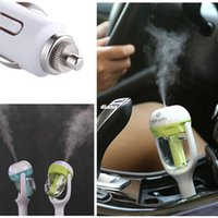 Wholesale 12V Mini Car Steam Humidifier Air Purifier Aroma Aromatherapy Essential Oil Diffuser Mist Maker Mini Fogger
