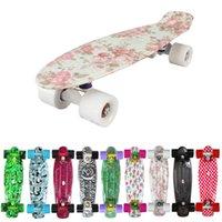 Wholesale New Custom Peny Skateboard Graphic series quot Retro Mini Skate Fish Long Board cruiser longboard complete skates patins