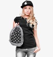 bandana bag - New Fashion Bandana Paisley Bag Escolar Backpack d Print Men Women Mochila Harajuku Drawstring Bag Unisex Backpacks