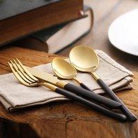 Wholesale 1Set Tableware cutlery sets steak knife dinner fork spoon different tableware stainless steel cutlery set