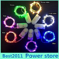 led fairy lights - 100pcs M LEDs CR2032 Battery Operated Micro Mini LED String Light Copper Silver Wire Starry Lighting String For Decoration
