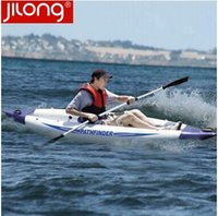 Canoes kayak - single person pathfinder canoe inflatable boat sport kayak cm include seat foot pump paddle carry bag