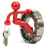Wholesale Novelty Home Decor Wall Climbing Man Magnetic Key Holder Funny Key Pete Cartoon Keys Hanging Fridge Magnets New Arrival