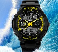 analog digital women s watch - Military S Shock Watch Outdoor Sport Watches Multi Function LED Analog Digital Waterproof M PU Watchband ABS Shell For Mens Women