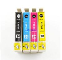 al por mayor epson printer-Nuevo cartucho de tinta compatible T2001, T2002, T2003, T2004 para Epson XP-200/300/400 Impresora WF-2530/2520/2540