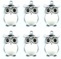 acrylic owl - New white owl Charm pendants Jewelry Making Party Gifts xtie290023