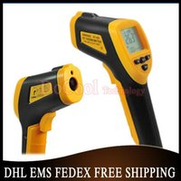Wholesale 200pcs Hot Sale Non Contact Laser Infrared Digital IR Thermometer LCD With Back Light DT