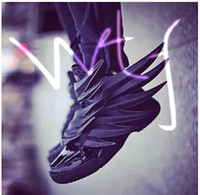 armor shoes - new shoes Black Knight armor bat wings black leather high top shoe lovers