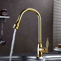 Wholesale 2015 High Quality Single Handle Patent Design Brass Gold Kitchen Faucet Mixer Tap