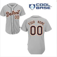 Wholesale Customs Men Detroit Tigers MLB Baseball Jersey Personalized Customized Cool Base Jerseys Embroidery Any Name and Number
