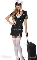 air hostess costume - Girl s love New Design Captain Pilot Costume sexy cosplay costume S1190 sexy Womens air hostess costumes