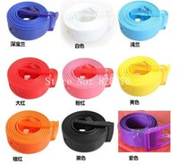 Wholesale DHL Freeshipping Adult Fashion Silicone belt candy jelly belt Width CM