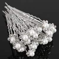 Wholesale accessories tiara Chic Crystal Pearl Flower Wedding Bridal Bridesmaid Hair Pin Clips U Pick Jewelry Party Accessories