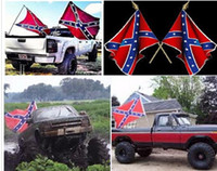 Wholesale In stock cm cm Confederate Rebel Civil War Flag Two Sides Printed National Polyester Flag Dixie Flag DHL