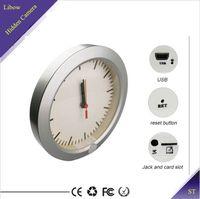 Wholesale Wall Clock Hidden Camera Table Spy DVR PIR Motion Detection Nanny Cam NO WiFi ST