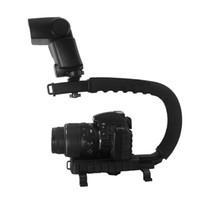 Handheld Aluminum D861 C Shape Bracket Video Handle Handheld Stabilizer Grip for DSLR SLR Camera Mini DV Camcorder D861
