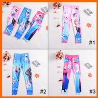 Cheap 2014 newest 3 designs Frozen tights Elsa Anna girls children leggings frozen long pants trousers cartoon clothing 1707053