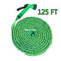 pocket hose - 1509 New ft Rubber Magic Garden Water Hose Pipe Good Quality Expandable Flexible Water Garden Hose spray Gun Pocket Hose