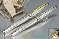 best design covers - PURE PEARL MB High Quality Best Design Golden Clip Roller Ball Pen Silver Wave Cover