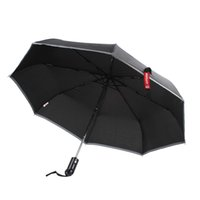 Wholesale XT AS001 Car Waterproof Folding Umbrella Automatic Open Close Cuspidal Steel Hammer With Cover CEC_950