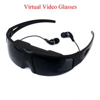 Wholesale Virtual Video Glasses For Ipod Iphone PMP Play Games With PS2 PS3 XBOX Wii USB AV In Inch Black VG260 E5175A