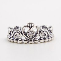 Wholesale Fashion Jewelry Ring Women Ring European Pandora Style High quality Sterling Silver Princess Tiara Ring