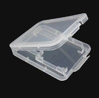 Wholesale Plastic Case For Micro SD TF Card Packing Box micro SD Card box TF card Protector box