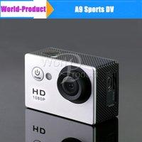 Precio de Camera underwater-DV deportes grabador SJ4000 A9 cámara de la acción HD 1080P 2.0 pulgadas cámara del coche DVR H.264 5M 30M Submarino vídeo en stock 111131C
