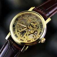 antique business - South Korea s fashion leisure fashion hollow mechanical table table belt Mens Watch neutral business