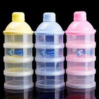 baby bottle dispenser - Solid Baby Food Bottle Milk Powder Box Portable Baby Infant Powder Milk Storage Dispenser Container Travel Storage Box BB0050