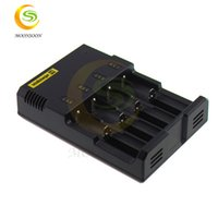 battery charger buy - Buy AC100 V US UK AU plug Nitecore I4 lithium battery charger cheap price electronic cigarette vapor i2 charger D2 D4