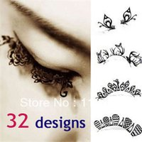 Wholesale hot paper cutting art Eye lashes designs false eyelash Christmas party accessory for pairs