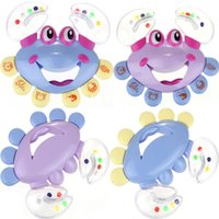 Wholesale 2015 New Arrival Tracking Kids Baby Girls Boy Crab Design Handbell Musical Instrument Jingle Rattle Toy Whale