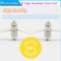 Cheap eGo E Cig CE4+ CE5 Atomizer Clearomizer Coil Head Best replacing old or bad resistor  Long Cotton Wick