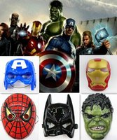 Wholesale The Avengers mask superhero mask Spiderman Hulk Captain America Batman Iron Man mask Theater Prop Novelty or Kids Favorite