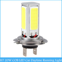 Cheap Super High Power H7 20W COB LED Car Daytime Running Light DRL White LED Auto Car Driving Light Bulb Fog Lamps C141